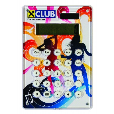 CLTB01 Calculator With Full Colour Print, Acrylic Cover, Solar And Battery Power