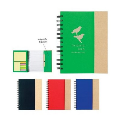 DESK57 Spiral Notebook With Sticky Notes And Flags