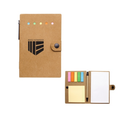 H1350P Small Snap Notebook With Desk Essentials