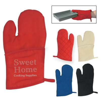 H9002 Quilted Cotton Canvas Oven Mitt