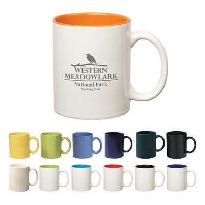 325Ml Coloured Stoneware Mug With C-Handle