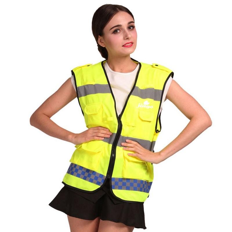 Multiple Pockets Reflective Safety Vest