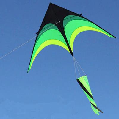 Umbrella Cloth Triangle Kite With Long Ribbon