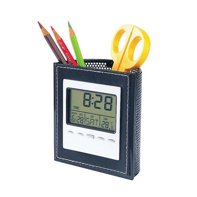PEHB01 Lcd Clock With Pen Holder