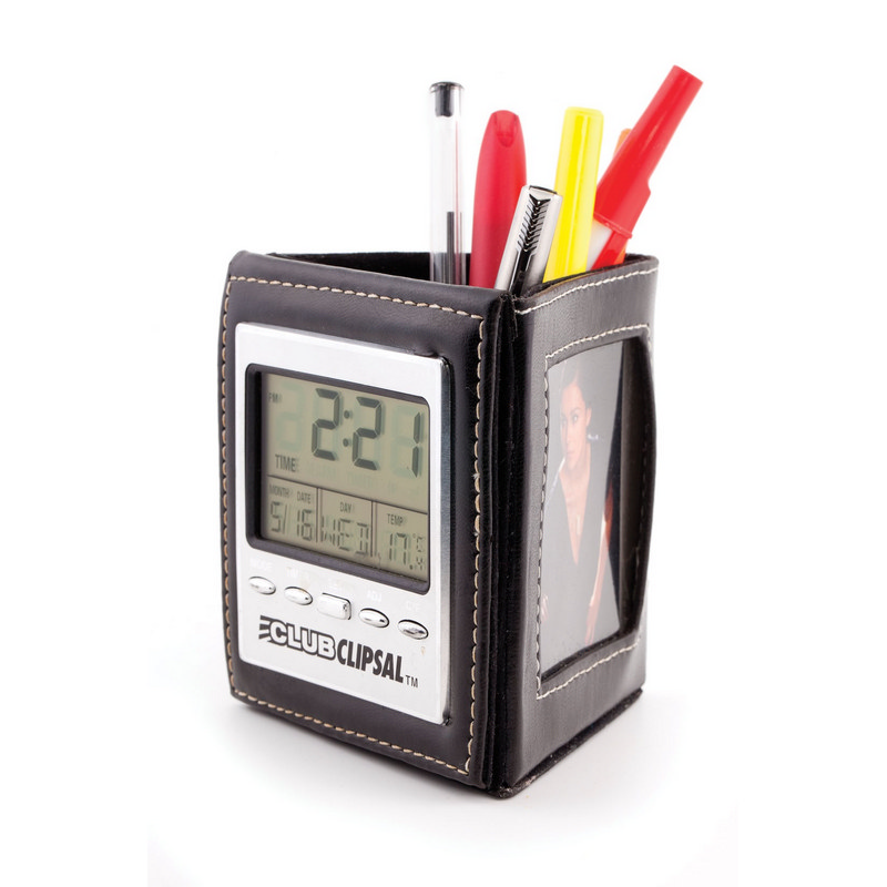 PEHB03 Multifunction Clock With Pen Holder