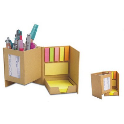 PEHB07 Recycle Paper With Post It Notes Pen Holder