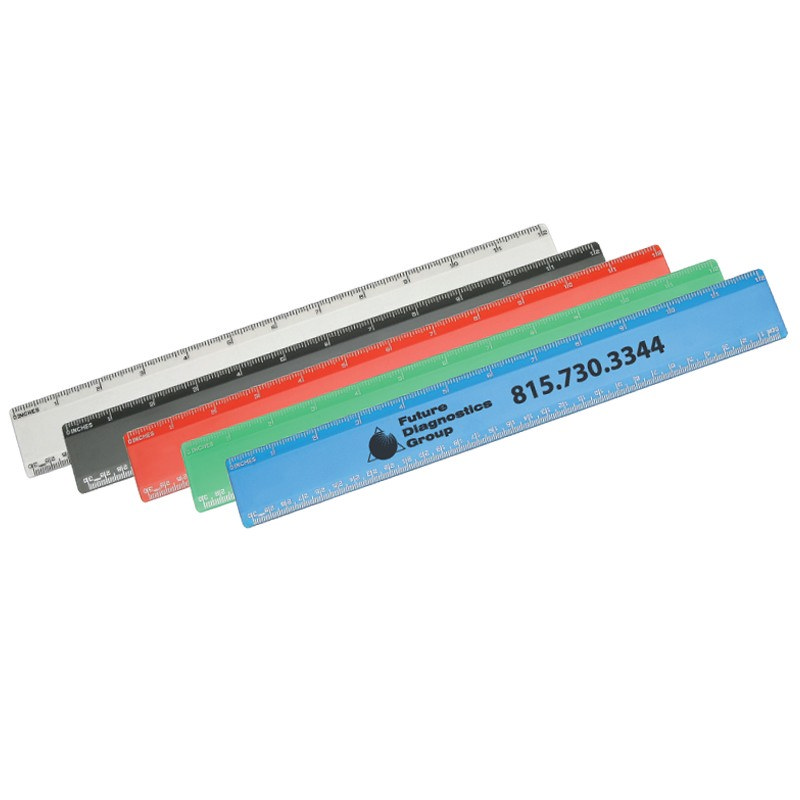 RUS001 Recycled Plastic Ruler 30cm