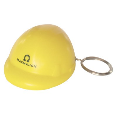 STRS09 Hard Hat Stress Shape On Keyring
