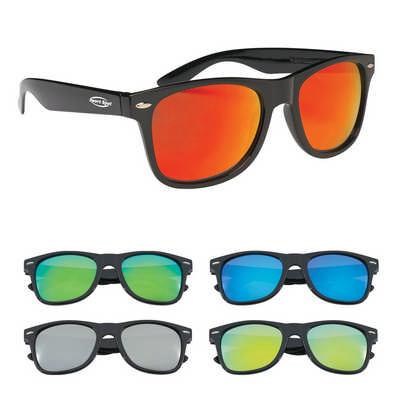 SUNG17 Colored Mirrored Malibu Sunglasses