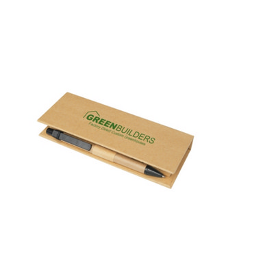 Eco Post-It Notes Box With Recycled Paper Pen And Calendar