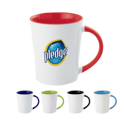 350Ml Full Colour Two-Tone Stoneware Mug