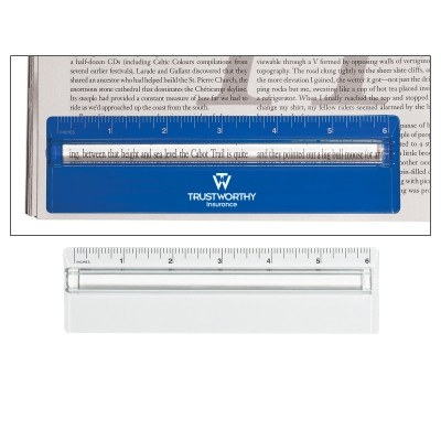 RUS012 Plastic 15cm Ruler With Magnifying Glass