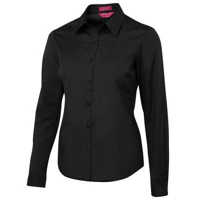 JBs Ladies Urban LS Poplin Black Shirt