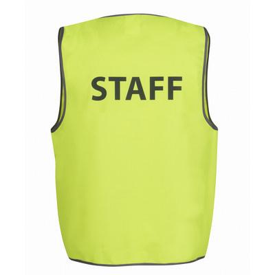 JBs Hv Safety Vest Print Staff
