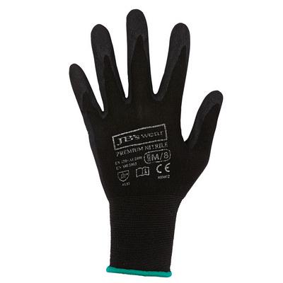JBs Premium Black Nitrile Brthable Glove (12 Pk) - S-07