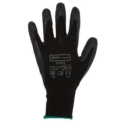 JB`S BLACK LATEX GLOVE (12 PK) - S - 07