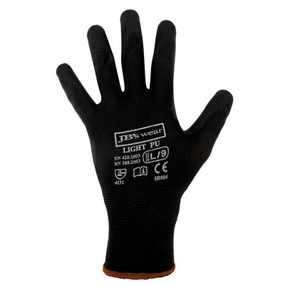 JB`S BLACK LIGHT PU BREATHABLE GLOVE (12 PK) - S - 07