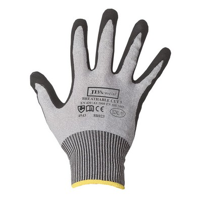 JB`S NITRILE BREATHABLE CUT 5 GLOVE (12 PK) - S - 07