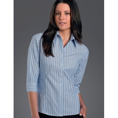 Fashion Stripe Womens Business Shirt