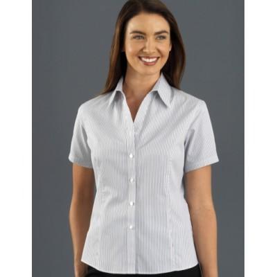 Herringbone Stripe Womens Business Shirt