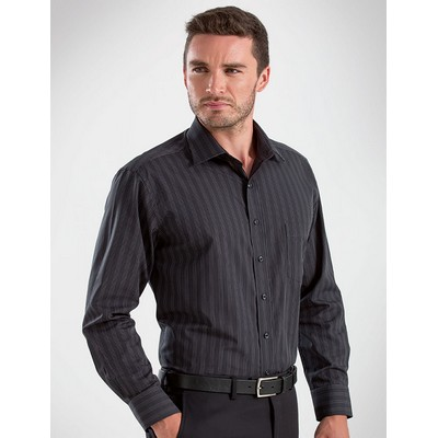 Dark Stripe Mens Business Shirt