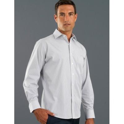 Herringbone Stripe Mens Business Shirt