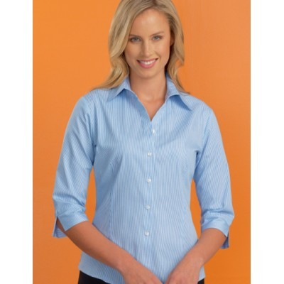 Bengal Stripe Womens Stretch Business Shirt