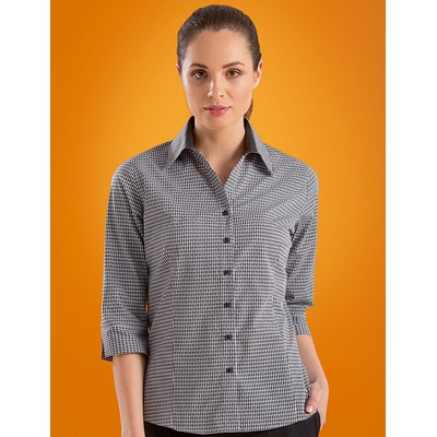 Dobby Check Womens Stretch Business Shirt
