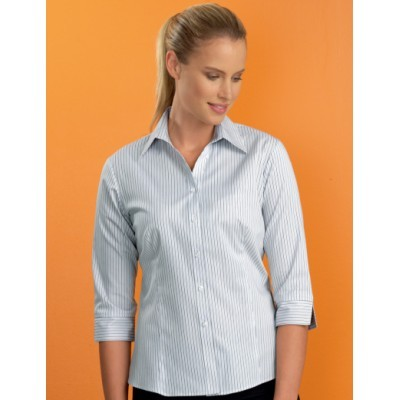 Contemporary Stripe Womens Stretch Business Shirt