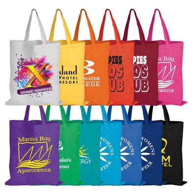 Coloured Cotton Short Handle Tote Bag