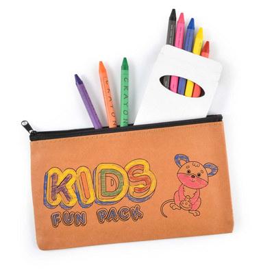 Kraft Pencil Case and Crayon Set