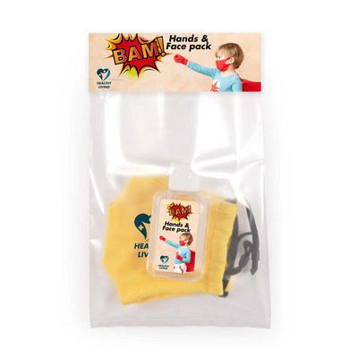Children s Mask and Hand Sanitiser Pack