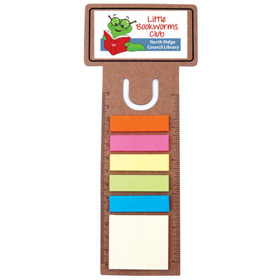 Business Card Bookmark  Ruler with Noteflags