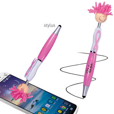Mop Top Awareness Ribbon Pen  Stylus