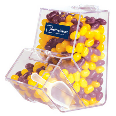 Corporate Colour Mini Jelly Beans in Dispenser