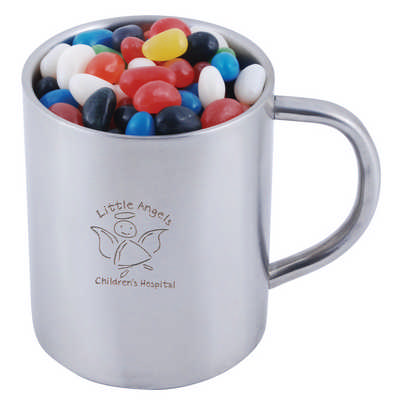 Assorted Colour Mini Jelly Beans in Java Mug