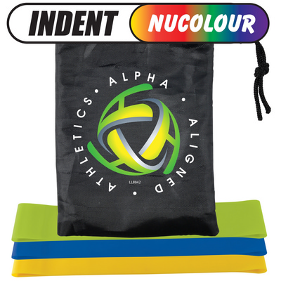 Stamina Resistance Bands in Drawstring Pouch