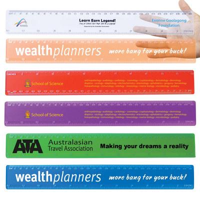 Transparent 30cm Premium Plastic Ruler - (printed with 1 colour(s)) LL11_LLPRINT