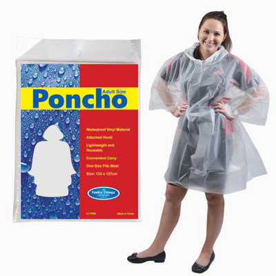 Hurricane Poncho - (printed with 4 colour(s)) LL1799_LLPRINT