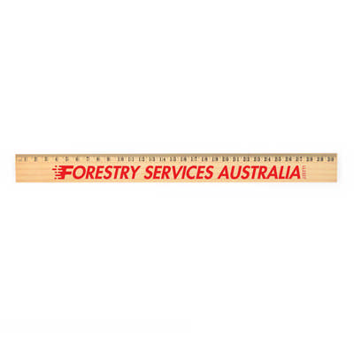 Axis 30cm Wooden Ruler - (printed with 1 colour(s)) LL2327_LLPRINT