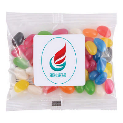 Assorted Colour Mini Jelly Beans in 50 Gram Cello Bag - (printed with 4 colour(s)) LL31470_LLPRINT