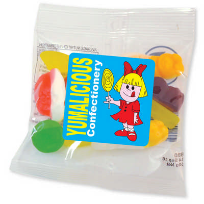 Assorted Jelly Party Mix in 50 Gram Cello Bag - (printed with 1 colour(s)) LL420_LLPRINT