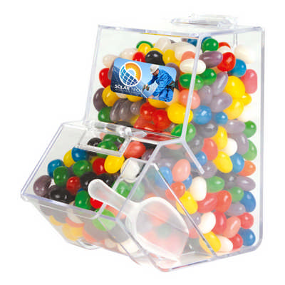 Assorted Colour Mini Jelly Beans in Dispenser - (printed with 4 colour(s)) LL4871_LLPRINT