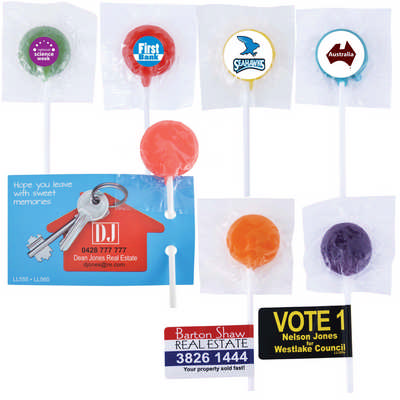 Assorted Colour Lollipops - (printed with 4 colour(s)) LL555_LLPRINT