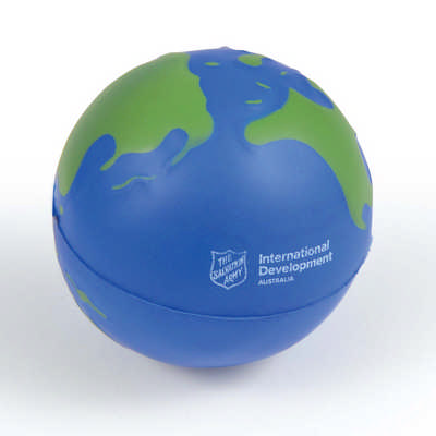 2 Colour World Globe Stress Reliever - (printed with 1 colour(s)) LL630_LLPRINT