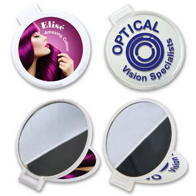 Reflections Round Folding Mirror - (printed with 1 colour(s)) LL683_LLPRINT