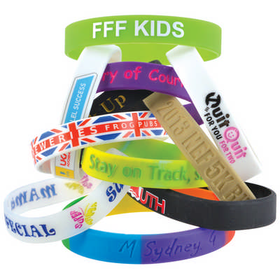 12mm Wide Silicone Wrist Band - (printed with 1 colour(s)) LN0065_LLPRINT