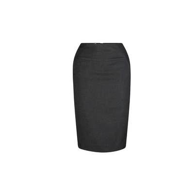 Mid Length Pocket  Skirt Charcoal Polyester Charcoal 303-ME-CHA_LSJ