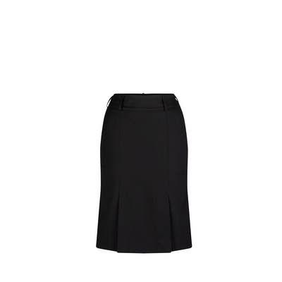 Kick Pleat Skirt Micro Fibre Black Black 315-MF-BLK_LSJ