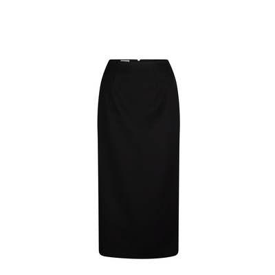 Ankle Length Skirt Micro Fibre Black Black 329-MF-BLK_LSJ